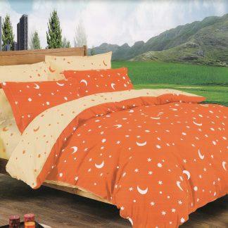 Lenjerii de pat 6 piese Sofy portocaliu crem luminos