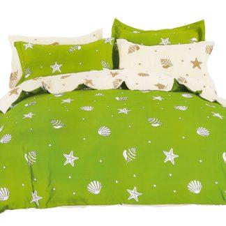 Lenjerie de pat 6 piese Sofy verde crem