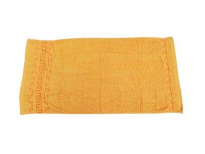 Prosoape cadou, bumbac, galben portocaliu, brodate