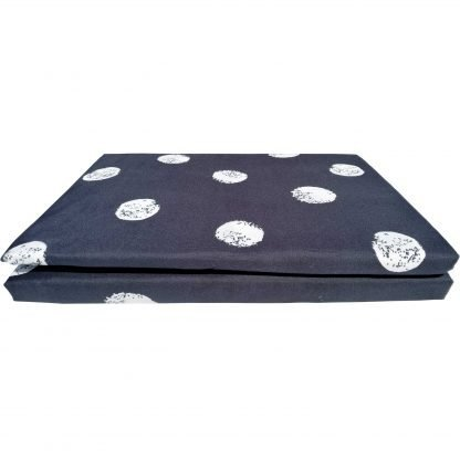 Pachet de prezentare lenjerii de pat 4 piese negru alb buline