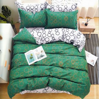Lenjerie de pat 3 verde regal bumbac ranforce