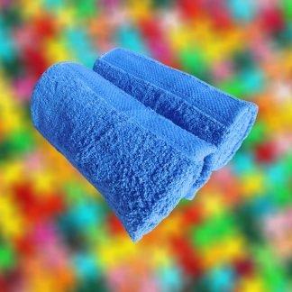 Set 2 prosoape albastre 50 cm x 100 cm