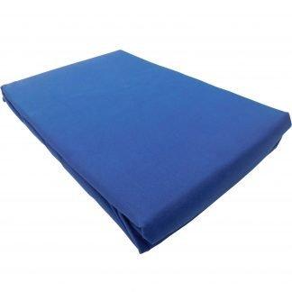 Cearsaf bumbac cu elastic 160 cm x 200 cm albastru bleumarin