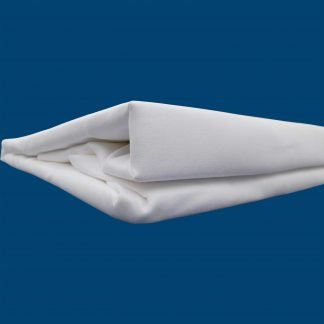 Cearsaf alb bumbac cu elastic 230 cm x 200 cm