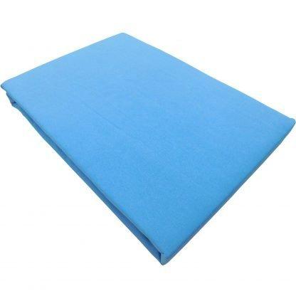 Cearsaf albastru cadet bumbac cu elastic 180 cm x 200 cm