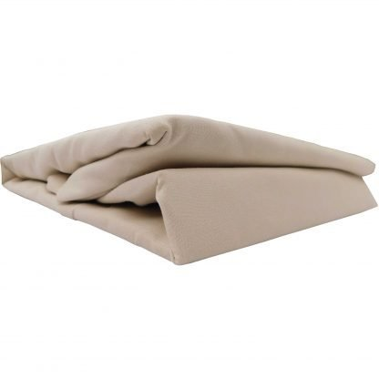 Cearsaf cappucino bumbac cu elastic 230 cm x 200 cm