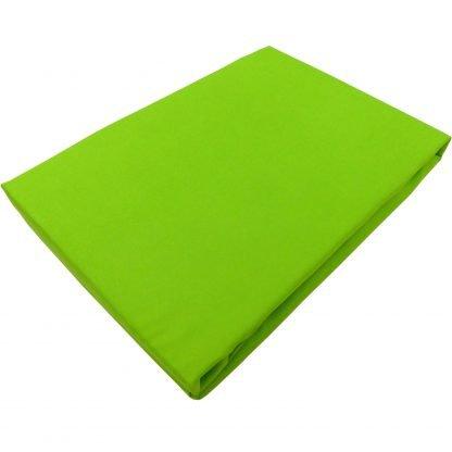 Cearceaf verde crud bumbac cu elastic 180 cm x 200 cm
