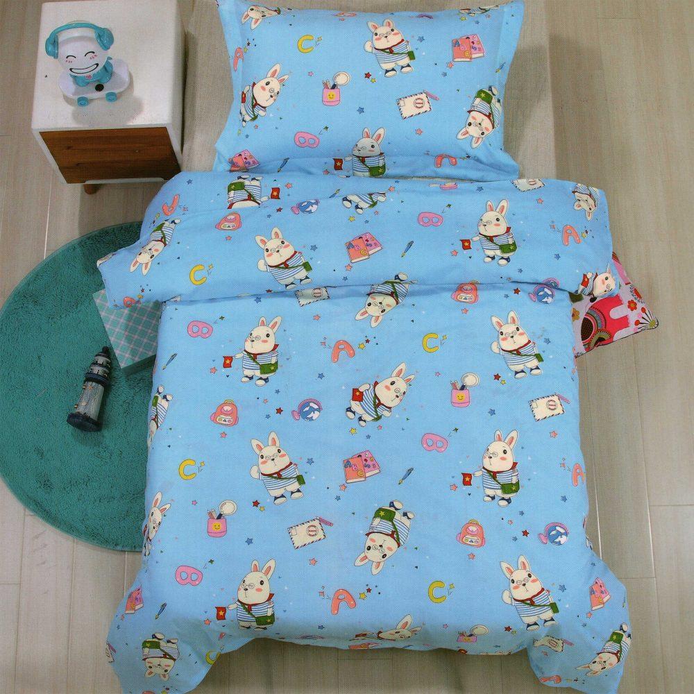 Lenjerie de pat pentru copii, albastru deschis, milky