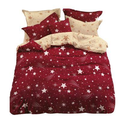 Lenjerie de pat rosie bordo