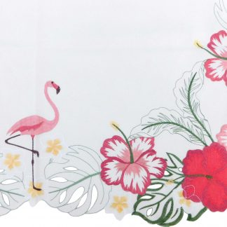 Față de masă brodată 85 cm x 85 cm flamingo
