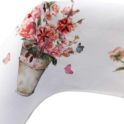 Față de masă brodată 85 cm x 85 cm flori