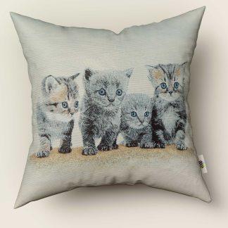 Față de pernă decorativă 4 pisicuțe