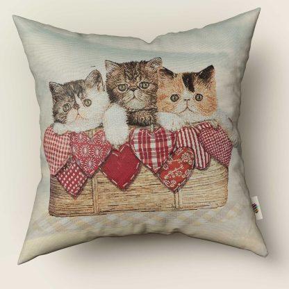 Fata de perna decorativa 3 pisicute inimioare