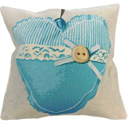 Fete de perna decorative inima albastra