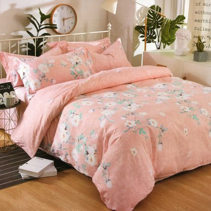Lenjerie de pat 7 piese 2 persoane Pink Spring