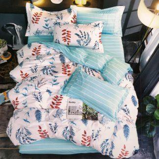 Lenjerii de pat 7 piese albastru turcoaz