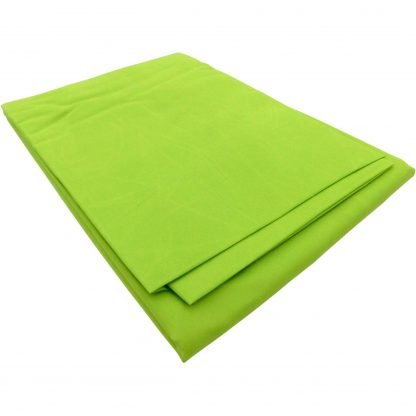 Cearceaf verde crud bumbac 100 cm x 200 cm