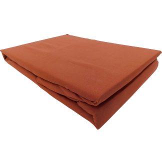 Cearsaf caramel bumbac cu elastic 230 cm x 200 cm
