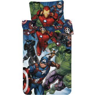 Lenjerie de pat 2 Fețe, Avengers, din bumbac