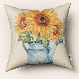 Fete de perna decorative flori floarea soarelui in stropitoare a