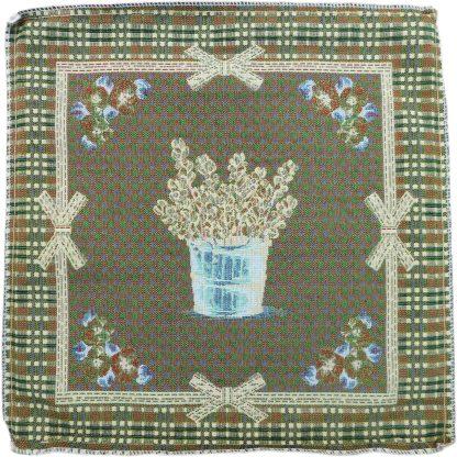 Față de pernă decorativă realizată din țesătură Jacquard, flori, lavanda, flori de primavara, flori vara