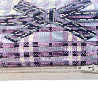 Fete de perne decorative lavanda detaliu fermoar