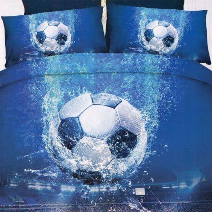 Lenjerie de pat fotbal 3D