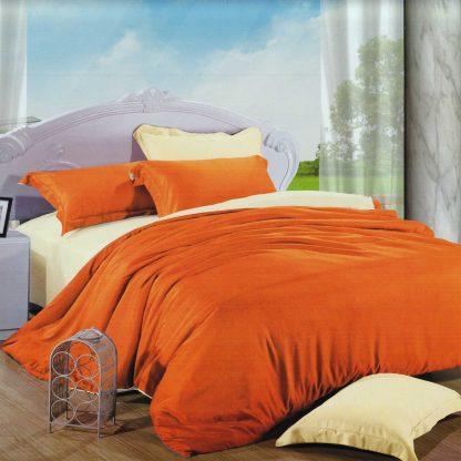 Lenjerie de pat portocalie