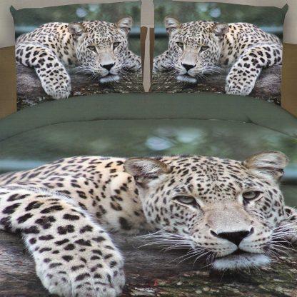 Lenjerie de pat leopard 3D