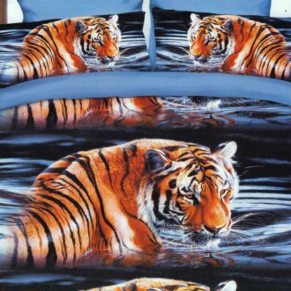 Lenjerie de pat tigru 3D