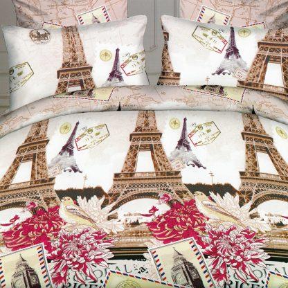 Lenjerii de pat dublu, Paris, 3D