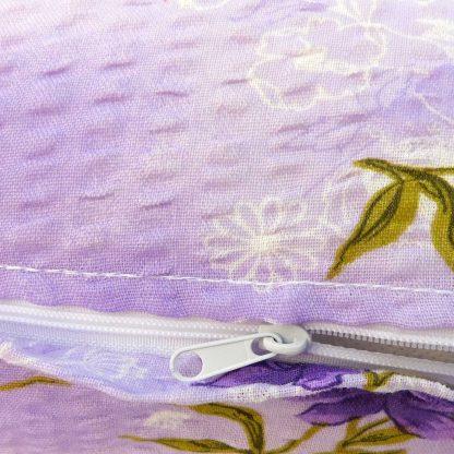Fata de perna motiv floral liliac 40 cm x 40 cm