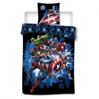 Lenjerie de pat pentru copii Avengers plus cadou