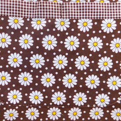 Set sorturi bucatarie motiv floral, maron