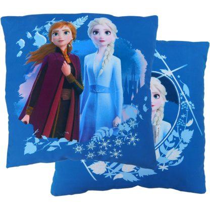 Perna decorativa pentru copii albastra, Frozen 2, Elsa si Anna