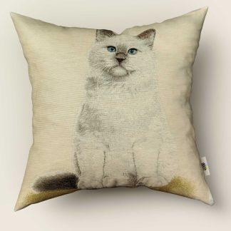 Față de pernă decorativă pisicuță