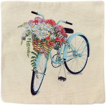 Față de pernă decorativă bicicletă cu lavandă 2