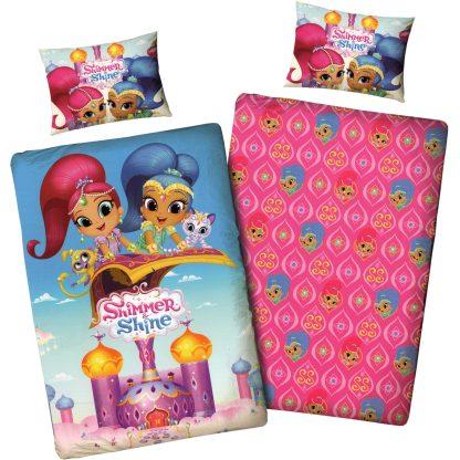 Lenjerie de pat pentru copii Shimmer and Shine, ambele fete