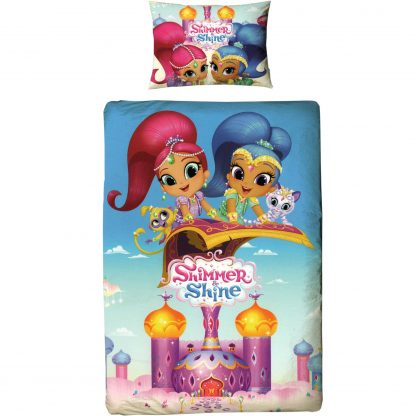 Lenjerie de pat pentru copii Shimmer and Shine, palat