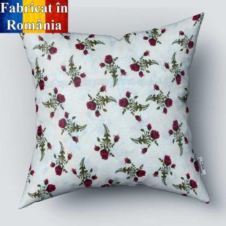 Fata de perna motiv floral trandafiri 70 cm x 70 cm