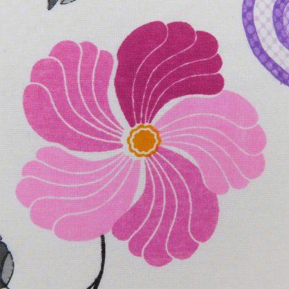 Fata de perna 70 cm x 50 cm, flori retro 3