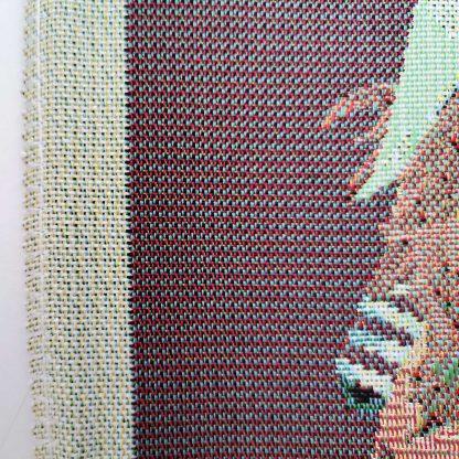 Fete de perne decorative pitici si cadouri de craciun, poza detaliata marginea cusaturii