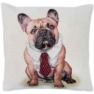 Fete de perne decorative, bulldog francez in camasa si cravata