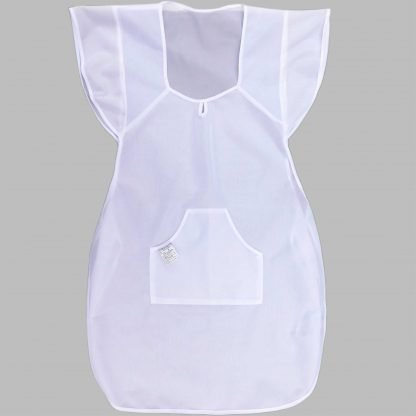 Sorturi de bucatarie albe, fata-spate