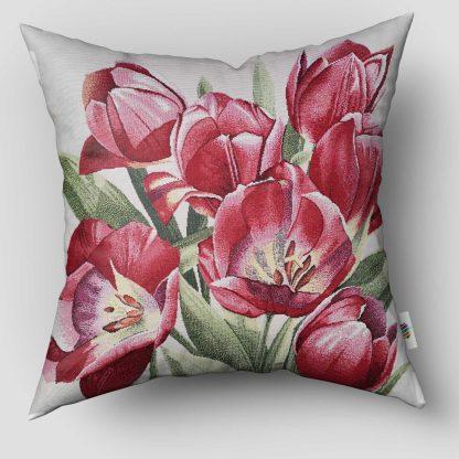 Fete de perne decorative lalele rosii, inflorite