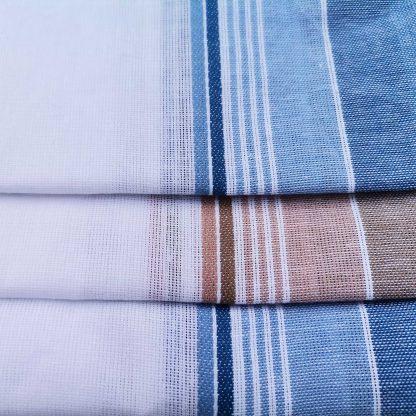 Set 12 batiste pentru barbati albe maro albastre
