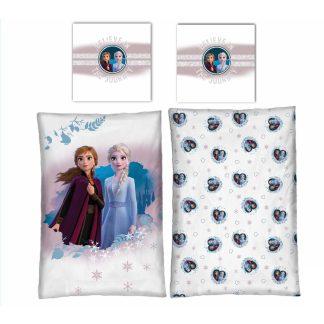 Lenjerie de pat pentru copii, Frozen, cu inimioare