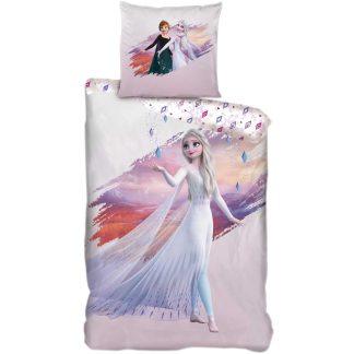 Lenjerie de pat pentru copii, Frozen, pictura in zapada