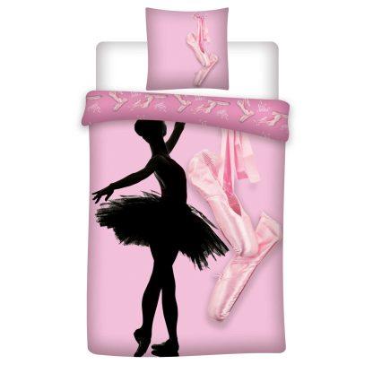 Lenjerie de pat pentru copii, roz, balerina