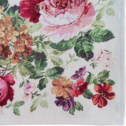 Fata de masa Goblen 90 cm x 90 cm, flori Jacquard